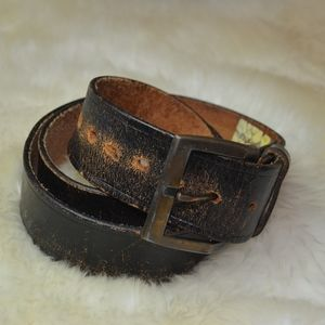 Other - Made in USA naturally distressed vintage wide belt
